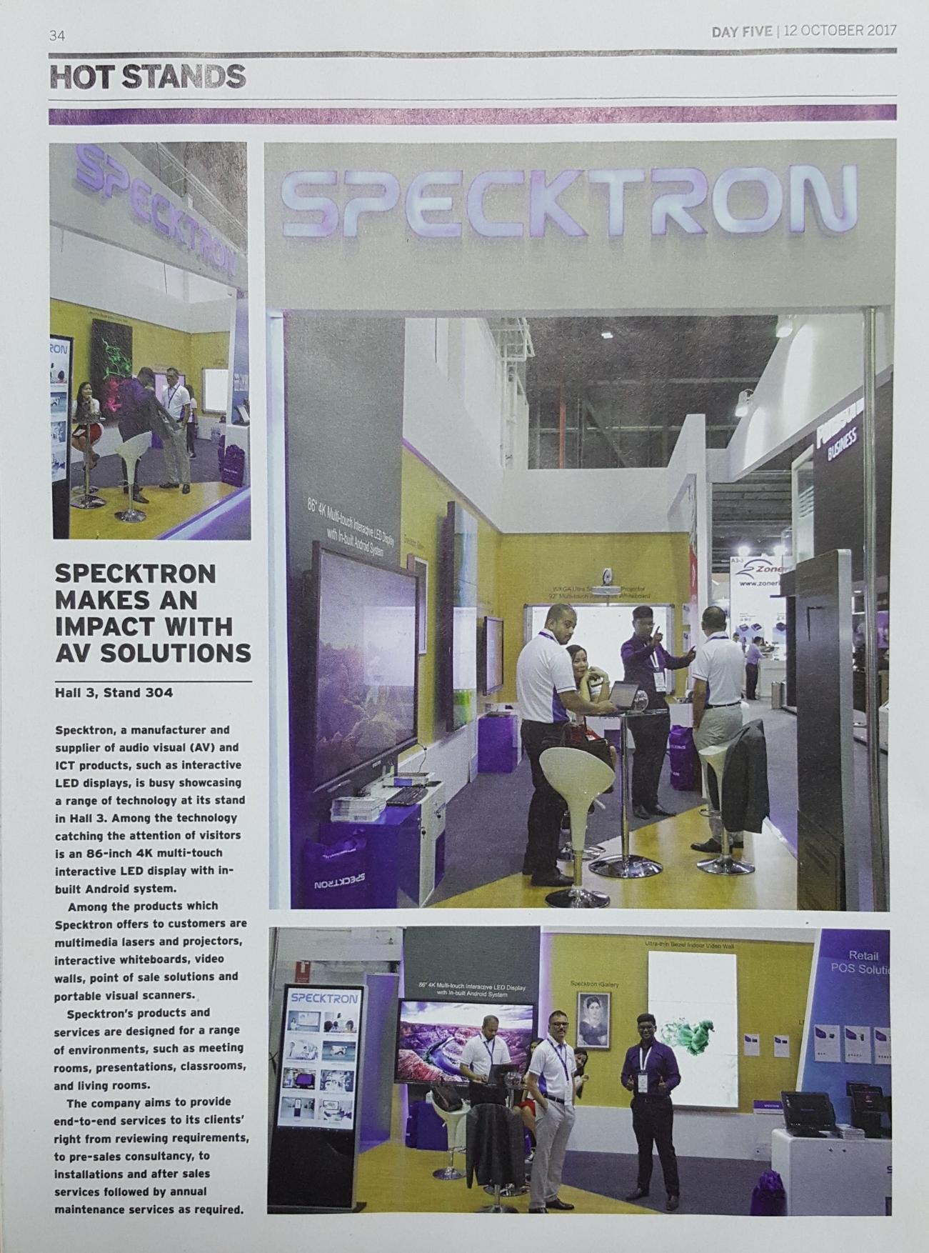 SPECKTRON MAKES AN IMPACT AT GITEX 2017 - ITP Report