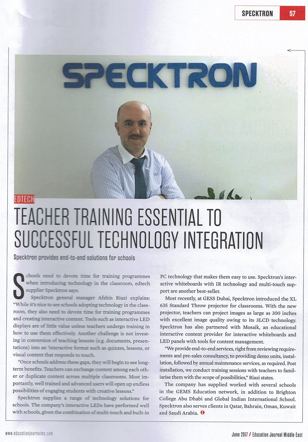 Interview with Education Journal (ITP)