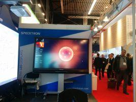 Specktron at ISE 2015 - Unveiling World's first Interactive Laser Projector